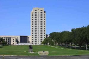 Wait, that's the North Dakota State Capitol. Seriously, I guess the state wasn't looking for someone with any imagination. Seems like something straight out of the Soviet Union if you ask me.