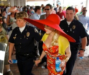 Yes, that Cyndi Lauper. Yes, that hat resembles a UFO. And yes, it also doubles as an umbrella. Any questions?
