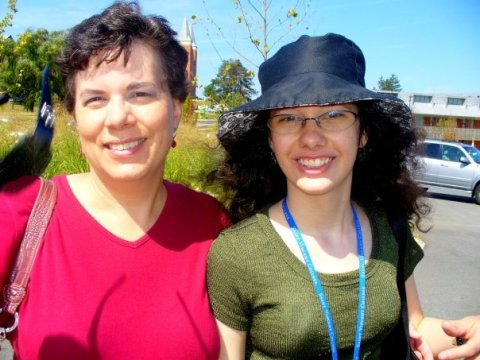 Me and my mom at Saint Vincent during my feshman orientation in August of 2008.