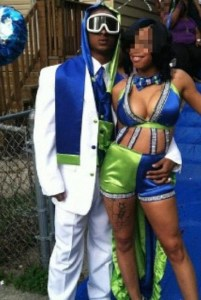 """Perhaps when it comes to prom dress codes for girls, you might want to go with, """"Do not wear anything resembling something that Niki Minaj might wear to one of her concerts.""""  The guy looks kind of sleazy as well, but in a different context."""