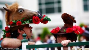 Now that looks like a horse's head you'd get from Amazon or something. Still, seeing it eat roses is kind of creepy if you think about it.