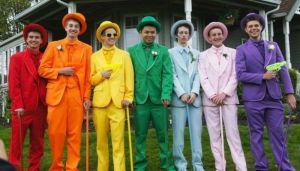 Of course, while many may see these teenage boys as the innocent promgoers they are, some people in the Bible Belt conspiracy theorist might equate them with the fictitious gay mafia of their imaginations. Either that, or Willy Wonka's fraternity.