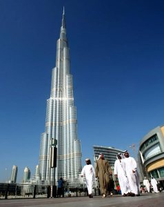 This is the Burj al Khalifa in Dubai, the tallest building in the world. It's 2,722 ft tall with 163 floors. It's also said to have had a labor controversy in the construction. Still, it kind of embodies Dubai's excesses and is quite the eyesore.