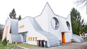 "This is a preschool in Germany which I think is subtly terrifying if you ask me. Still, kind of gives the term ""cat house"" a whole new meaning."