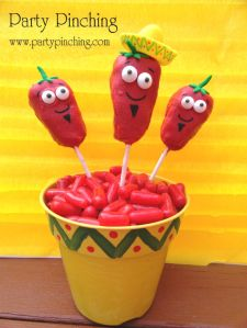 Now these are adorable, especially the one with the little sombrero. Still, I'm sure they aren't made of peppers though. But I like them anyway.