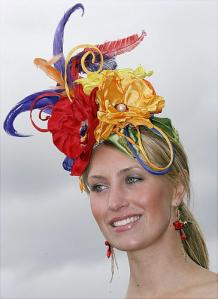 Seriously, you have to wonder why people would think that using dead pets for fancy hats is a good idea. Also, this hat is beyond hideous, but here it is.