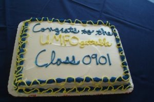 Either that, or having a cake with word salad this bad probably means that the decorator at Wal Mart should be fired.