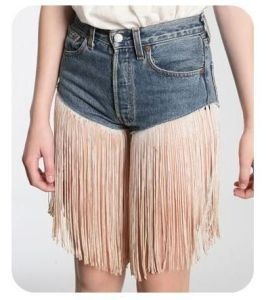 For one, these aren't great to walk in since the fringes might get caught in something. Second, being unable to wear short shorts is not the end of the world. Third, those aren't even in style and look ridiculous.