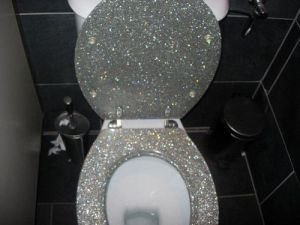 When your mother says she wants a sparkling toilet seat, I'm sure she didn't mean this, unless she's Lady Gaga. Seriously, nobody wants to crap in a commode that seems straight out of Elton John's disco era bathroom. Besides, toilet seats make terrible gifts anyway.