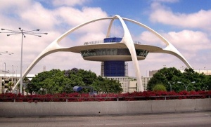This is the Theme Building at Los Angeles International Airport. Still, I'm sure the aliens would find LA quite accommodating, especially for those seeking a career in show biz.