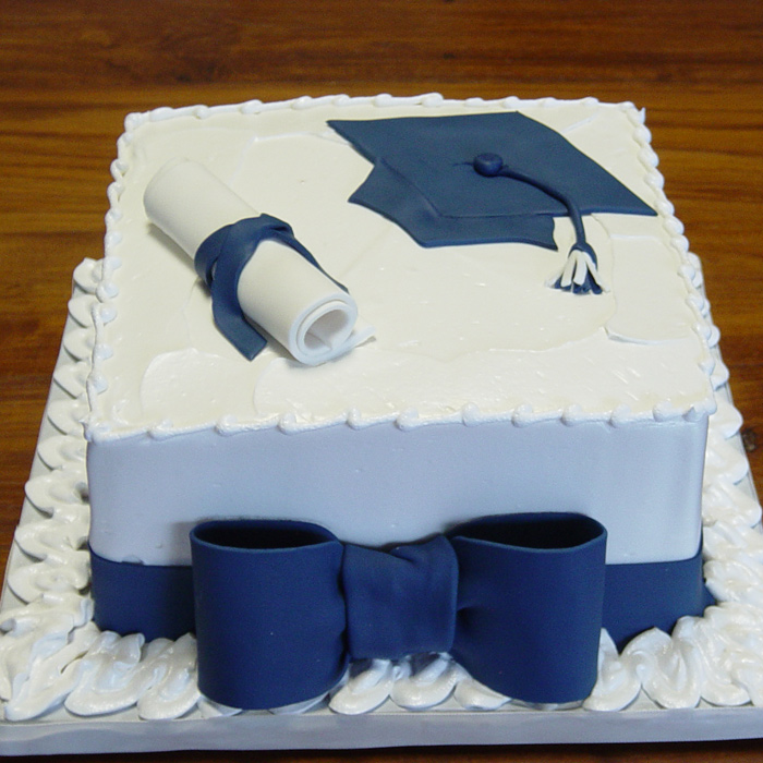 Graduation Blue Bow Lg