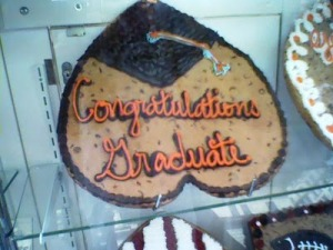 What the fuck would anyone buy a graduation cake like this? It looks like a stripper's backside for God's sake! Seriously, do these parents have any idea how inappropriate a cake like this is for graduation?