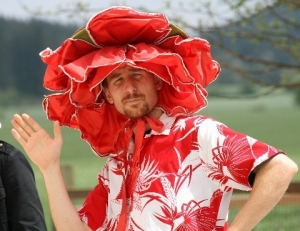 Some guys just want to wear a hat with the petals surrounding them. Sure this doesn't make you look ridiculous (sarcasm).