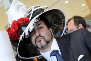 Oh, wait, that's Joey Fatone from the 1990s boy band NSYNC. Still, you kind of wish they had reunion at the Kentucky Derby wearing hats like these.