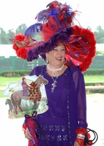 Oh, my mistake. Actually looks like something the Red Hat Society ladies might wear to a derby in a Dr. Seuss story for some reason. Then again, the feathers are just crazy on this one.