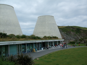 Oh, wait a minute this is the Landmark Theater in Ilfracombe, Devon in England. Still, I wonder what function do those large stacks have because they don't seem to have an purpose.