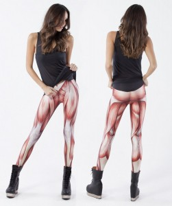 Okay, maybe these tights are making this woman look too exposed. Seriously, put some skin over them. Also, these look utterly disgusting and more suited for live models in anatomy classes.