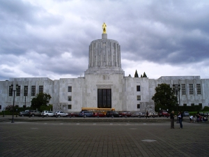 Sorry, my mistake. That's the Oregon State Capitol building. I know it just seems like the place you'd see Winston Smith working at in the novel 1984.