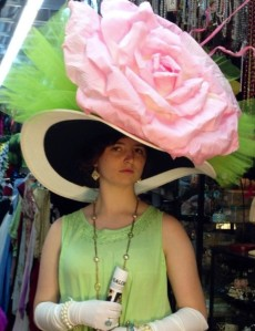 Uh, yes. it does. In fact, it makes the other gigantic flower hats look normal in comparison. Seriously, you'd swear it was genetically engineered by Monsanto.