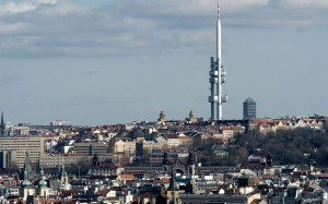 This is the Žižkov Television Tower in Prague. What's even more horrifying besides the missile shape is that it has crawling babies on the side. Eeek!