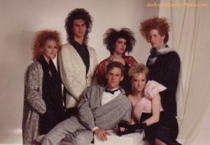 I know it's probably a 1980s prom picture. Yet, with those crazy hairstyles, no one can tell. Still, you gotta love the 1980s.