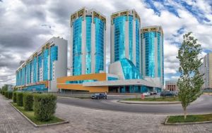 Now this is the Azure Complex in Astana Kazakhstan that resembles a hotel for a Las Vegas casino. Yes, I showed a lot of buildings from this city.