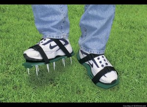 These spiked sandals will open up the soil wherever she walks in the yard. If she prefers walking along dark alleys at night, they can be used as weapons.