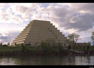 Now while a Ziggurat skyscraper may look awesome in Ancient Sumer, it doesn't go well as a skyscraper in the 21st century. Seriously, why?