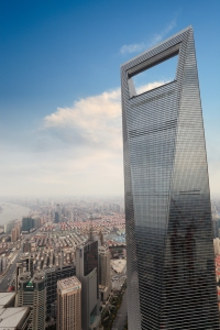 This is the Shanghai World Financial Center in China. And yes, it looks like a massive bottle opener, but not as ritzy as the one from Saudi Arabia.