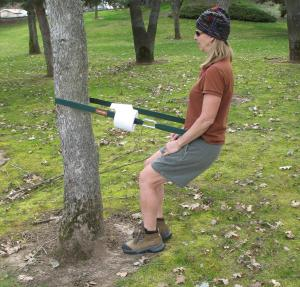 For the outdoorsy mom who hates having to squat in the woods, this offers valuable support for answering the call of nature. Sure there may other uses for it other than taking a shit in the woods but that's not what you imagine Mom doing is it?