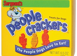 Sure people enjoy animal crackers. So why shouldn't dogs have People crackers? Of course, they only come with mailman as far as I know.