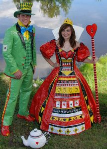Hey, I didn't know that the Queen of Hearts and the Mad Hatter went to prom together. Or that they were in high school at the same time. Or that Wonderland even has a high school or prom.