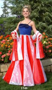 """From Ugly Dress.com: """"Prom Patriots are very popular. Prom Patriots get everything they could ever want. If you dress up like the Prom Patriot everyone will like you, you will get into the college of your choice, your acne will clear up, your boobs will get bigger, the Prom King will kiss you behind the coke machine, and you will even have a baby."""" Yeah right."""