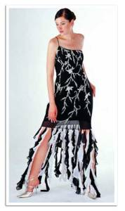 Now this dress would actually be pretty nice for prom. However, you just need to remove the low hanging trimmings, which make it look ridiculous. Seriously, I'm sure flappers didn't wear a dress like that.