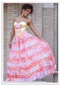 I think I might've seen a similar dress on a wax figure of Rhihanna. Doesn't really seem appropriate for her. Still, hope she saves it to wear for Oktoberfest.