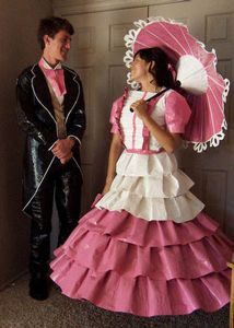 Worst Gone with the Wind cosplay I've ever seen. Seriously, the dress color is terrible. And frankly, my dear, I really do give a damn.