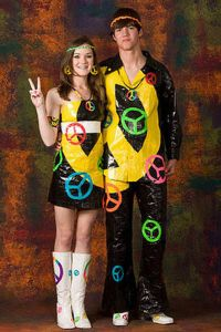Yeah, prom should be about peace, love, and rock n' roll. Of course, a lot of people have sex after prom. But still, these outfits seem more suitable for Woodstock than perhaps a formal high school dance.
