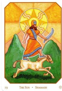 Sun god by day, underworld judge by night, Utu embodies the sun's positive aspects by bringing warmth and light. Best known for his image being on the Code of Hammurabi.