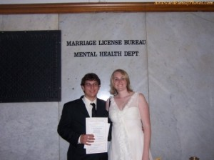 Now do you think it's a great idea to have your Marriage License Bureau near the Mental Health Department. Must have a lot of interesting stuff going on at that courthouse.