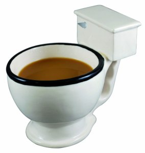 Just because your dad enjoys toilet jokes doesn't mean he wants to drink his coffee from one in the morning. Seriously, he'd totally wouldn't want to be seen with this.