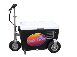 Does your dad hate walking but love cold beverages like beer? If so,  with this your dad can enjoy a beer while cruising along at up to 10 miles on electric models. Of course, this will also lead your dad embarrassing you at sporting events as well as hunting and fishing trips. However, my dad would rather have a cooler he can load up in a trunk with groceries. I'm sure he wouldn't get much use from this.