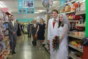 I don't know about you, but I don't think having your wedding in a supermarket is a good idea. I mean, obviously unromantic aesthetics aside, it's always crowded with people scrambling for the best deal.