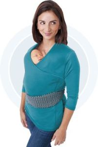 This is supposed to make mothers look good as they have a baby down her shirt. However, to me, this just looks freaky.