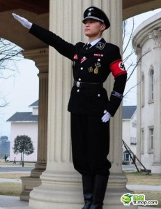 Okay, I know that Nazi uniform weddings are a thing in China, which is disturbing enough. Still, if I saw my fiance at the altar wearing one of these, I'd just run out of the church or just say,