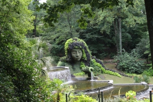 Of course, she tends to have a lot of flowers in her hair and lives near a waterfall. This is from the botanical gardens in Atlanta.
