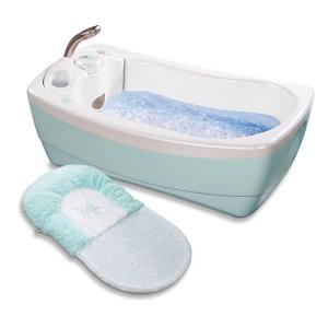 I'm sure this is as expensive as hell and totally unnecessary. Seriously, your baby can go without jetted water or a spa tub for that matter.