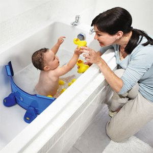 I'm sure plenty of parents bathed their babies just fine without one. Seriously, they have baby bathtubs available. Why can't parents just use that?