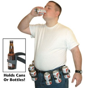 For dads who love beer and hate getting a refill. Can hold cans or bottles. Nevertheless, should you really be encouraging your dad to drink a circumference of beer? Certainly not.