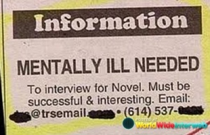 Let's just say that this person would save far more time and money if they'd just check out the biography section of their local library or Wikipedia. Seriously, there are a ton of celebrities and historical figures out there who'd fit this ad's description perfectly. May I recommend Andrew Jackson.