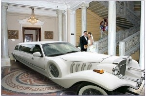 I'm sure photoshop had something to do with putting the limo in there. Or else, the building would've been totally obliterated. Still, don't ask me why this couple thought it was a good idea.
